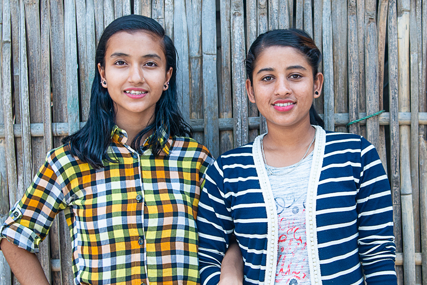 Sarita and Sabina are campaigning to end trafficking in Nepal