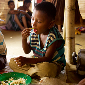 Photo of a boy eating