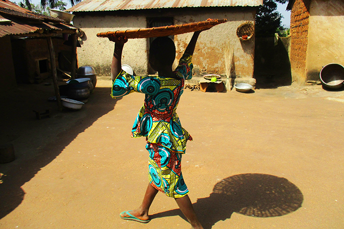 A girl from our Real Choices, Real Lives study in Togo