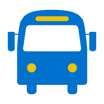 Icon showing a bus