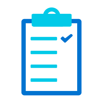 We'll get you to the finish line checklist icon