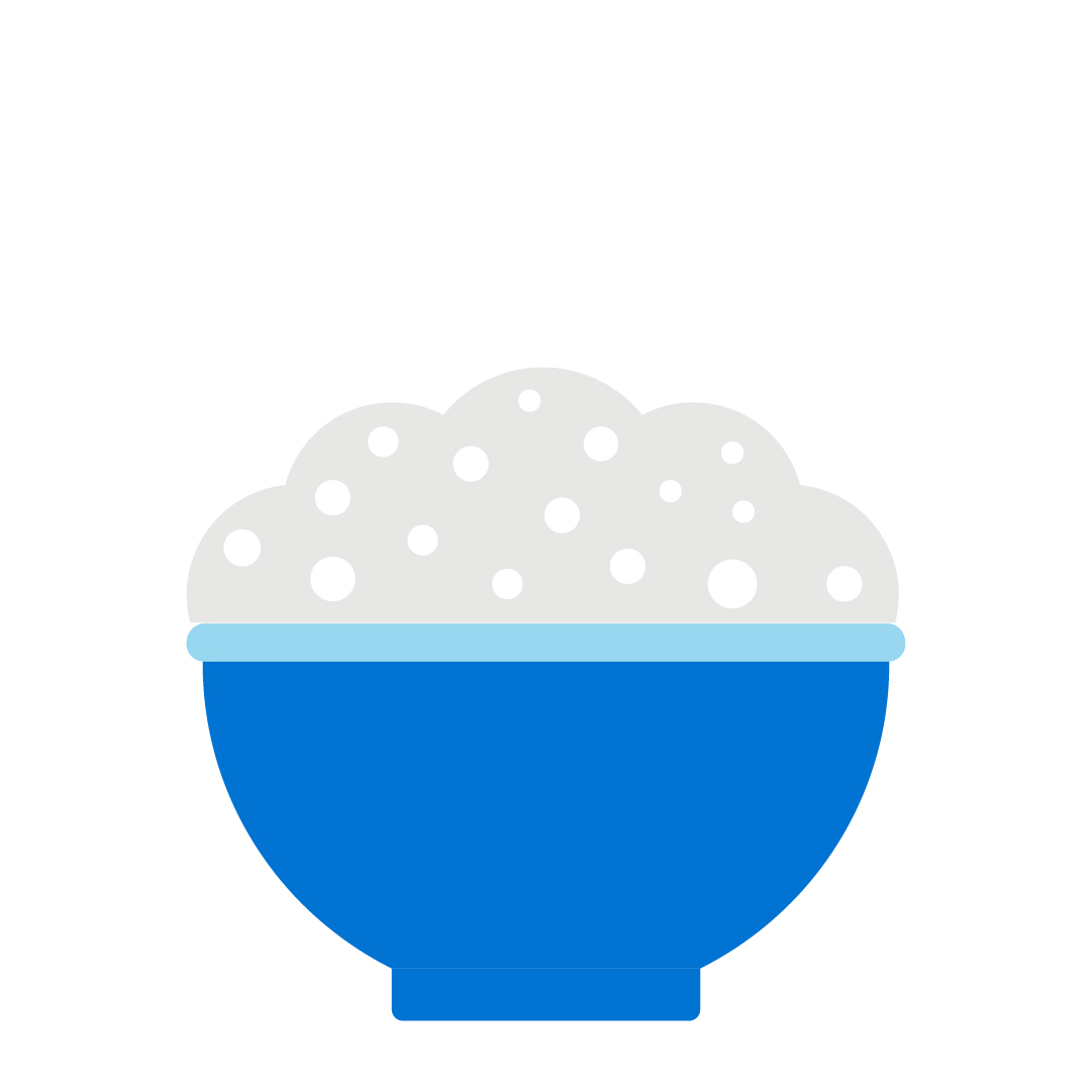 A blue icon of a bowl of food