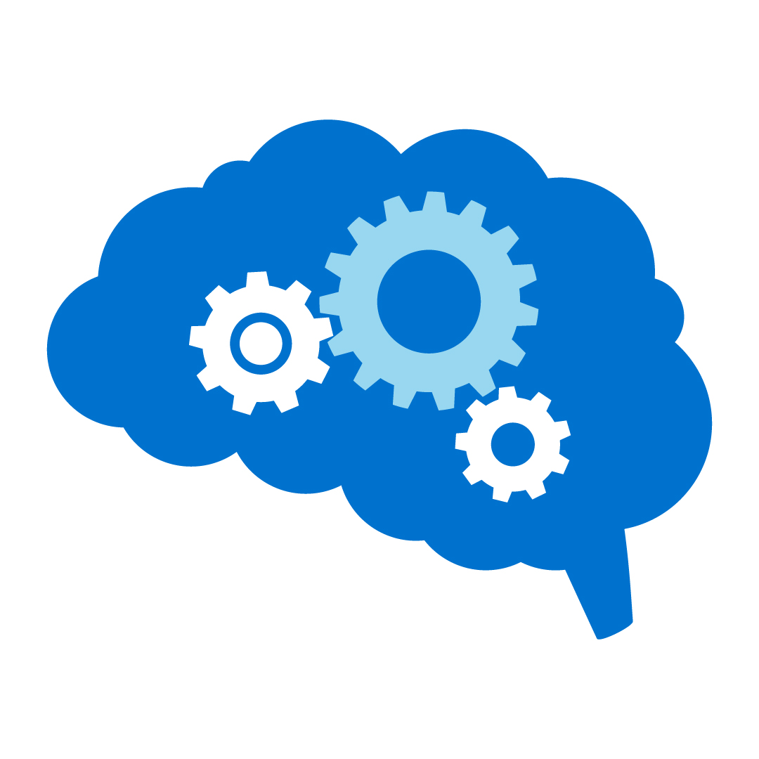 Icon of a brain and cogs