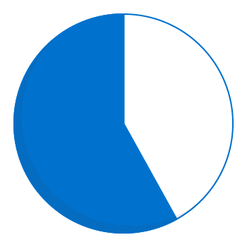 Expenditure pie chart - 58 percent