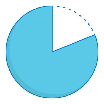 Expenditure pie chart - 80 percent