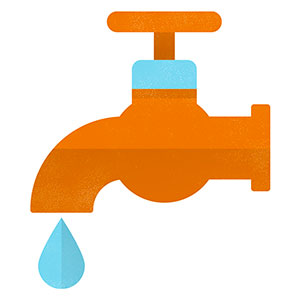 Graphic of a tap
