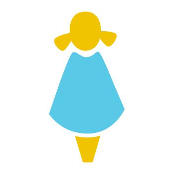 Animated sponsored girl graphic - benefitting whole communities