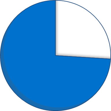 Expenditure pie chart - 74 percent