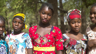 Girls at their school in Mali