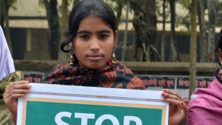 Girls campaign in Bangladesh to end child marriage
