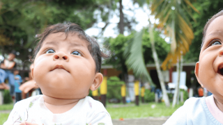 Babies smiling in Guatemala