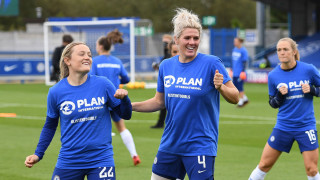 A photo of Chelsea Women's football players