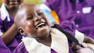 Child laughing in Tanzania