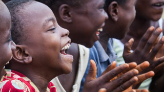 Children singing in Liberia