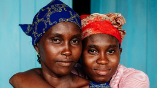 Zainab and her mum in Sierra Leone