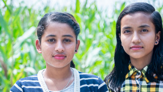Youth advocates Sarita and Sabina are standing with young people in Nepal to demand an end to trafficking