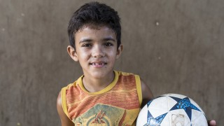 Fernando, a sponsored child from Brazil