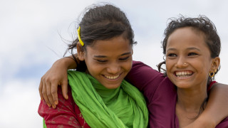 Having fled persecution in Myanmar, best friends Rahina and Khurshida now live one of the largest refugee camps in the world.