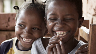Smiling children in Zambia