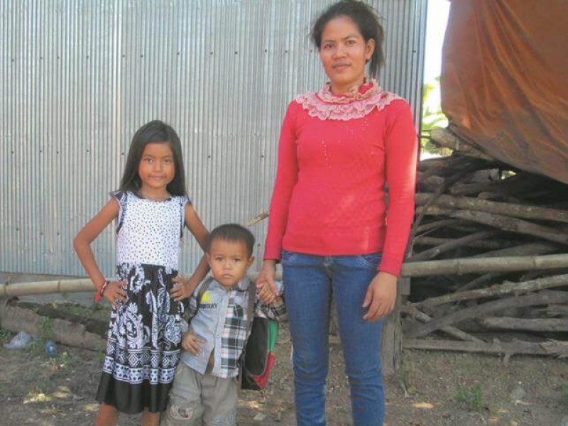 Sipha with her mother and brother from Cambodia in 2012 who is part of our Real Choices Real Lives Study