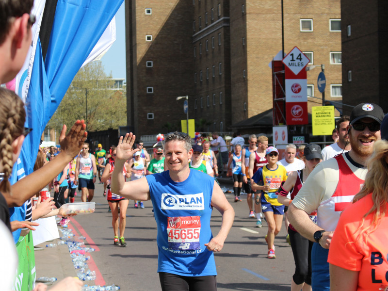 Plan International UK runner at Royal Parks Half Marathon