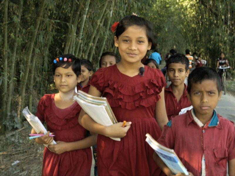 Antora and her school friends