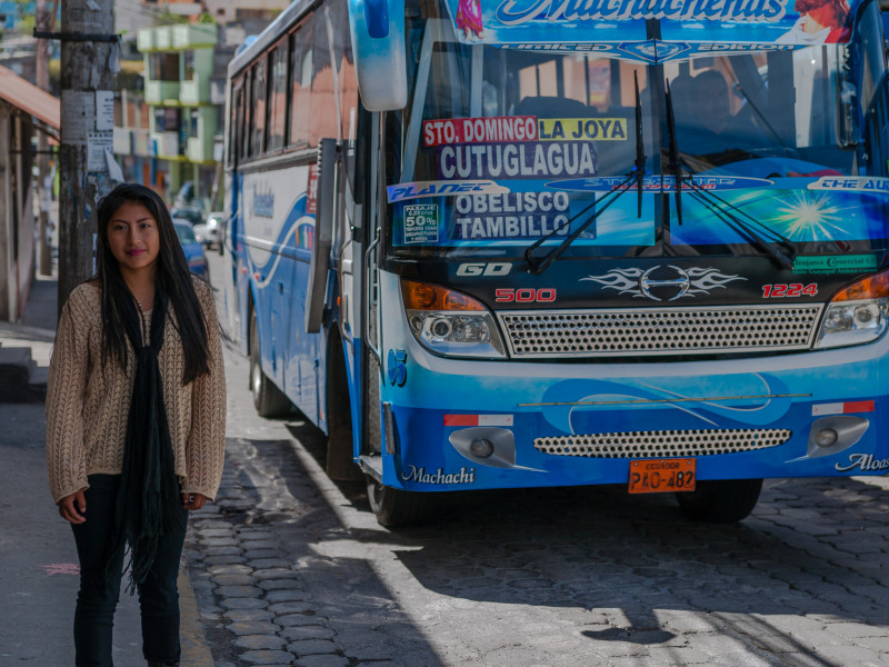 Maribel is as afraid on public transport as she is on the streets of Quito