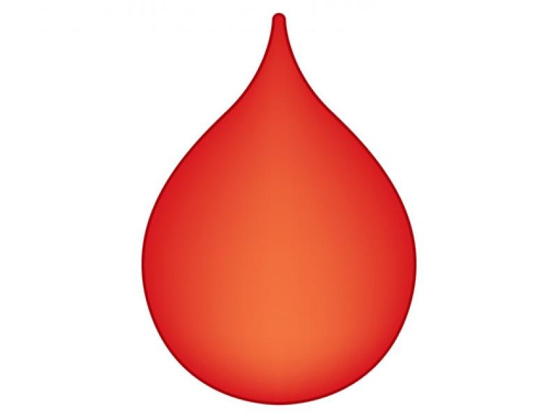 Design of a plain blood drop emoji
