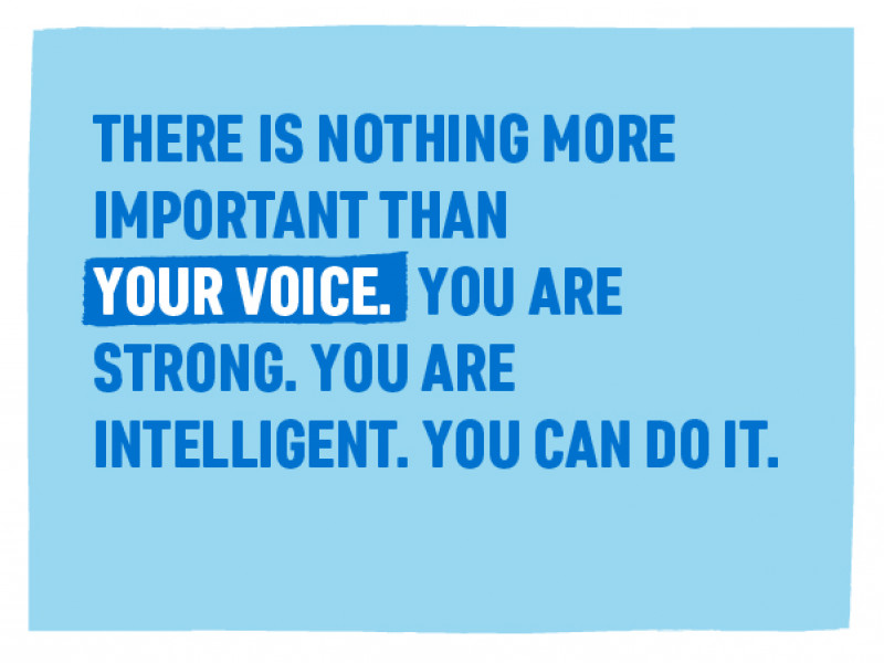 On International Day of the Girl 2019, we asked you to send messages of encouragement. 'There is nothing more important than your voice. You are strong. You are intelligent. You can do it'.
