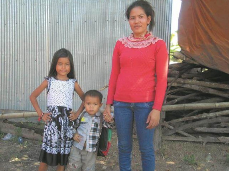 A family from Cambodia