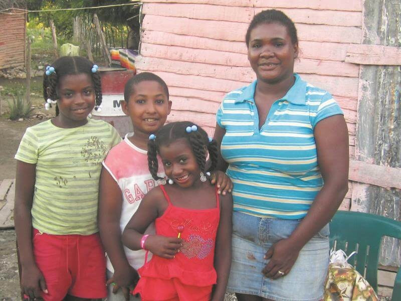 A family from the Dominican Republic