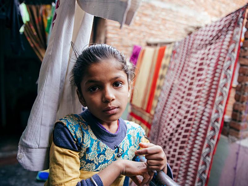 Priya, 8, lives in Delhi