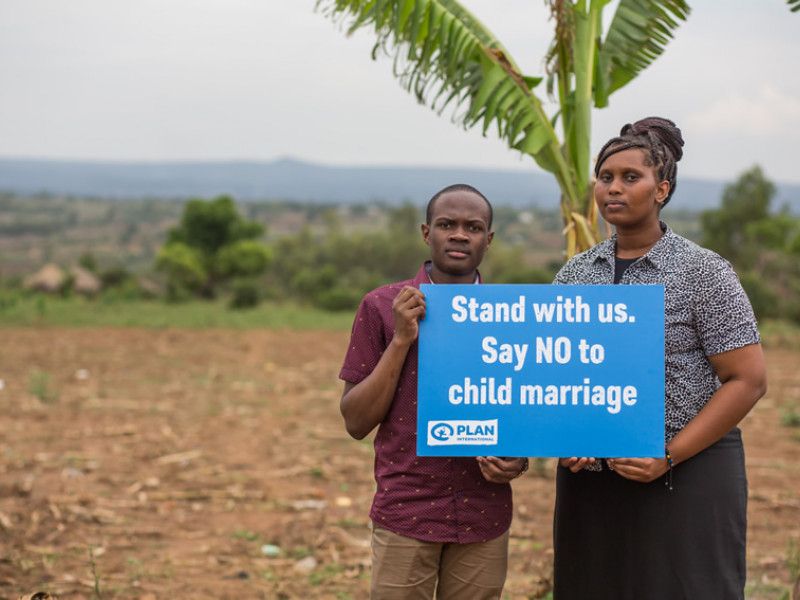 Youth advocates Upendo and Aidan are leading the campaign to make child marriage illegal in Tanzania.