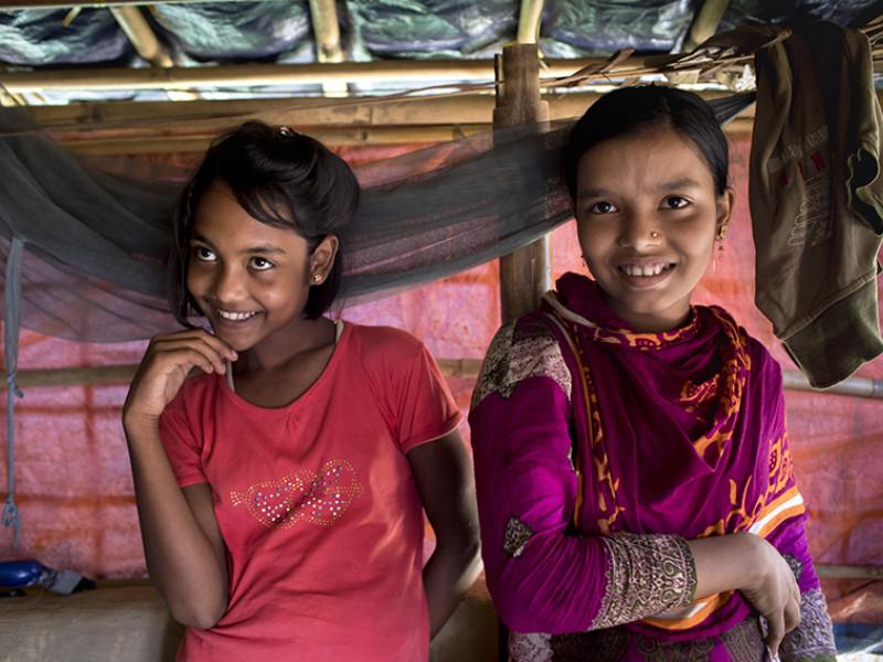 Best friends Nun Lolima and Kawasana in Bangladesh