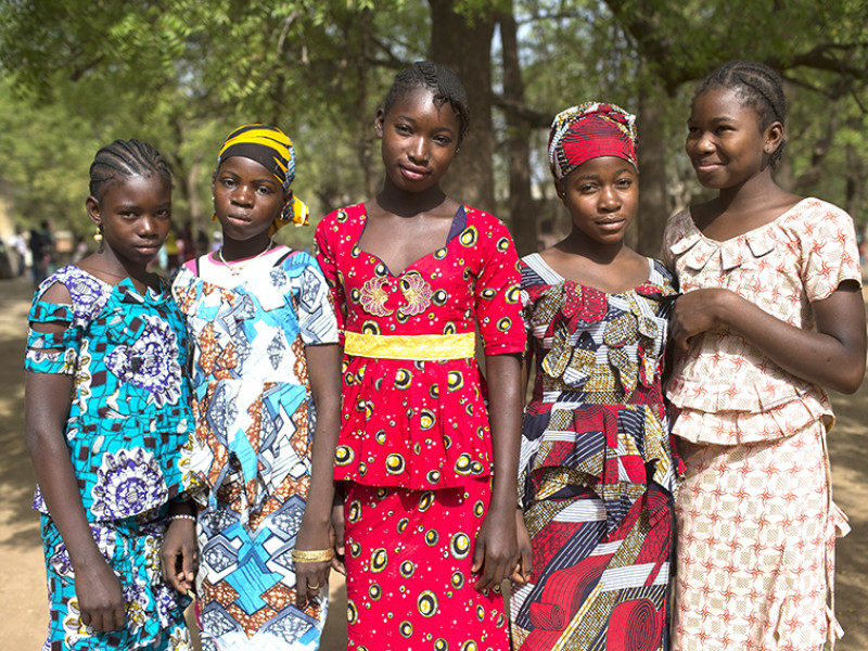 Girls at school in Mali