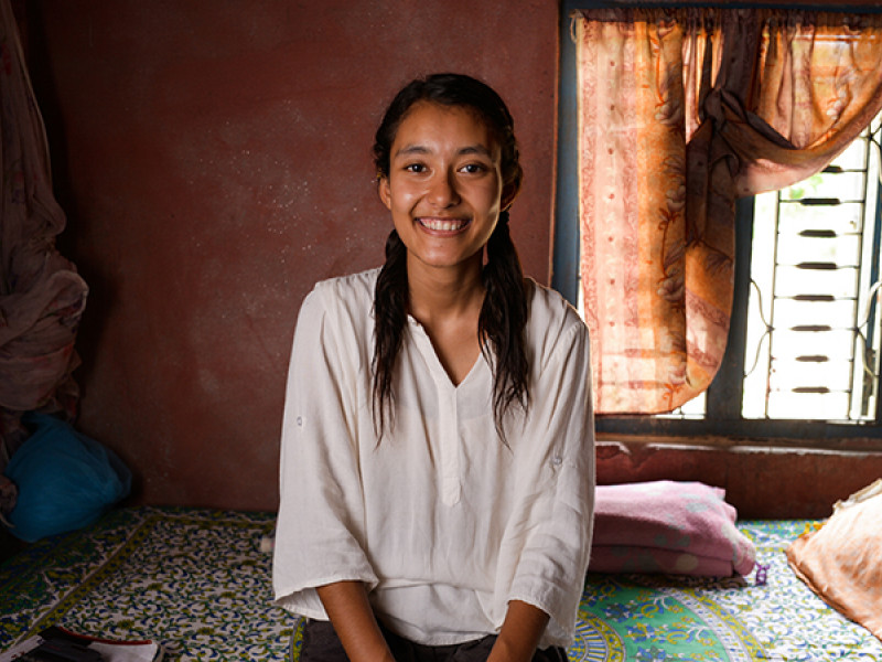 Sabina, 19, is standing up for girls' rights in Nepal