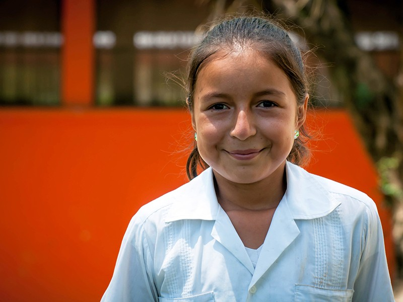 Katherine, a sponsored child from Honduras