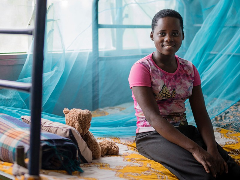 Sofia in Mozambique. She wants to become a doctor.