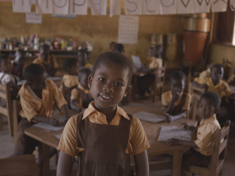 Children in a classroom in Ghana