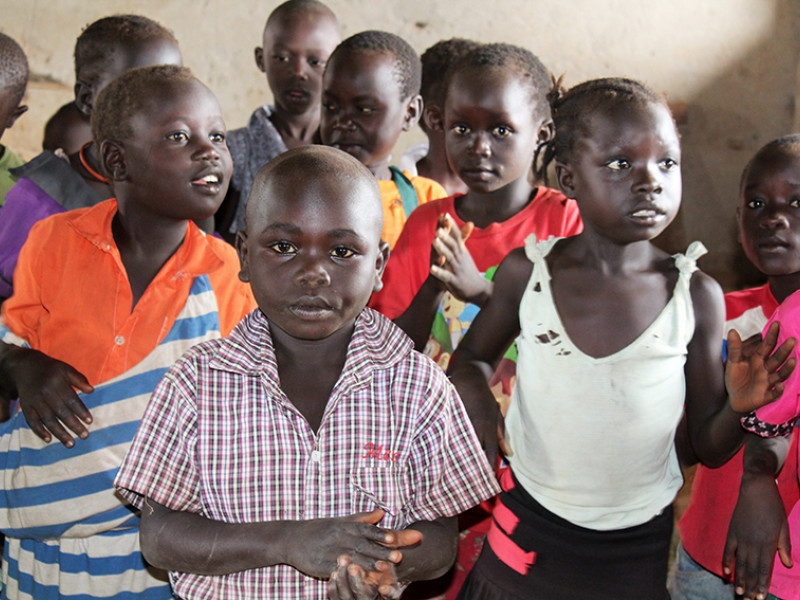 Alapi, five, in South Sudan