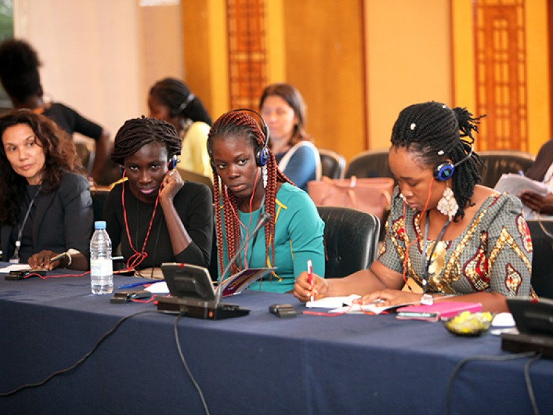 Youth advocates attend a meeting on ending child marriage