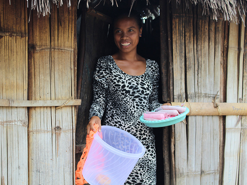 Lenia has started her own business in Timor-Leste