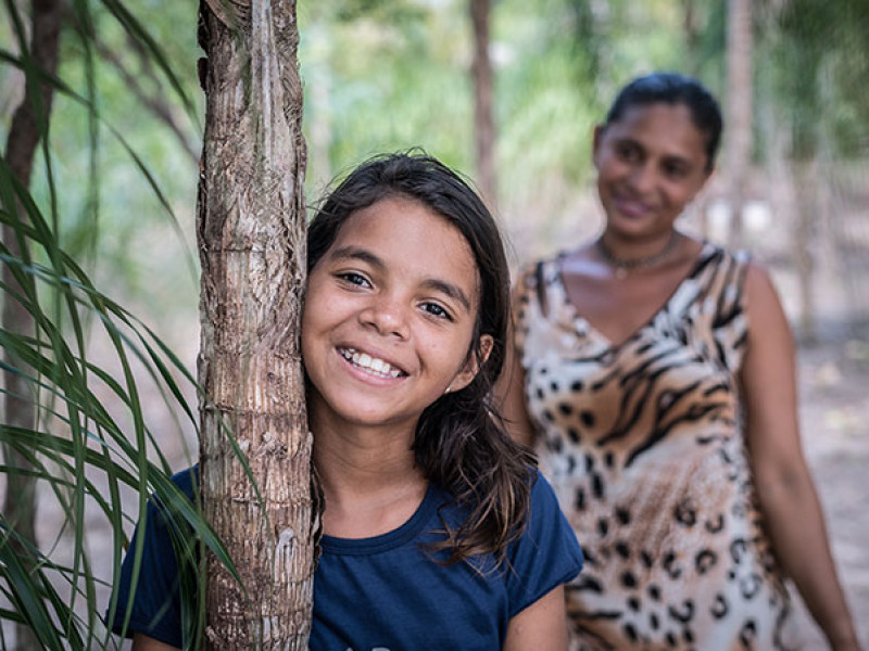 12-year-old Layza is a sponsored child in Brazil