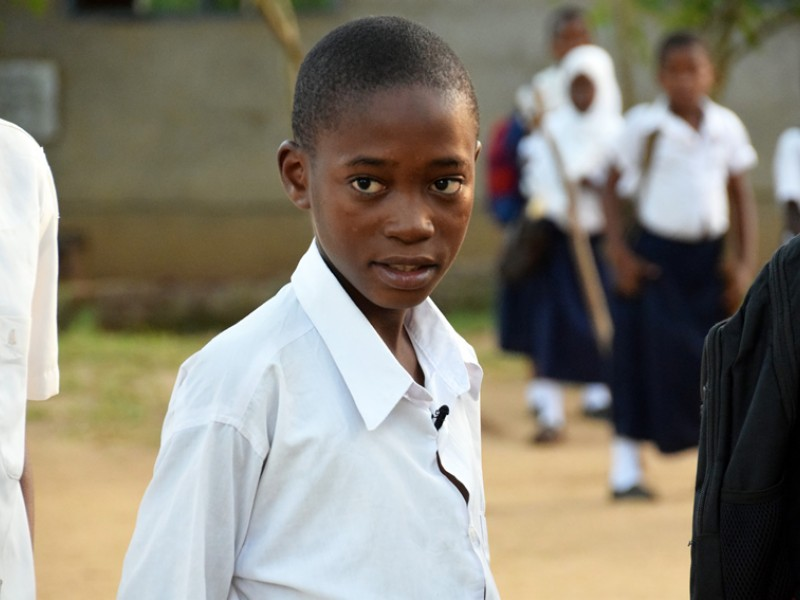 Matheo, 13, is a Plan International sponsored child in Tanzania