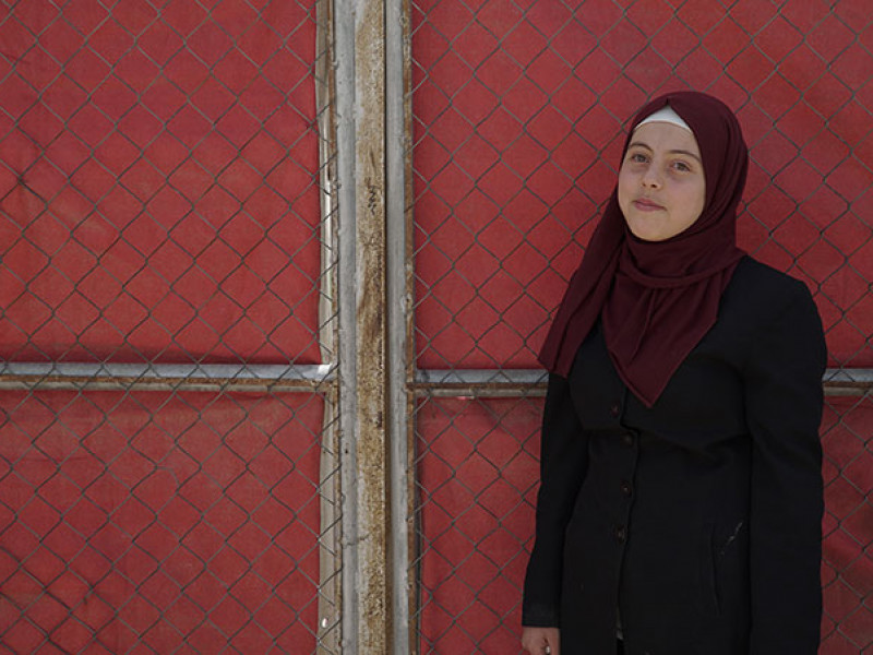 Basma in the Azraq refugee camp