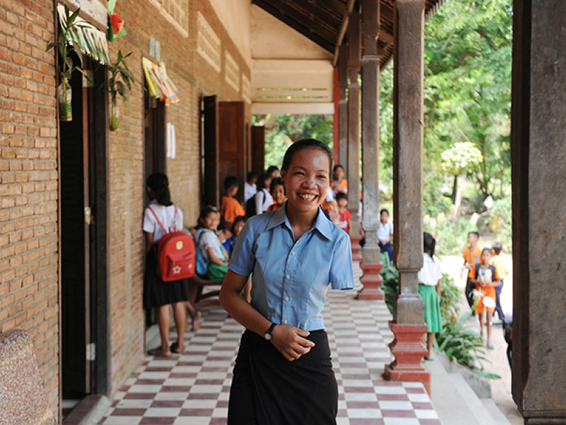 Tort was a sponsored child in Cambodia