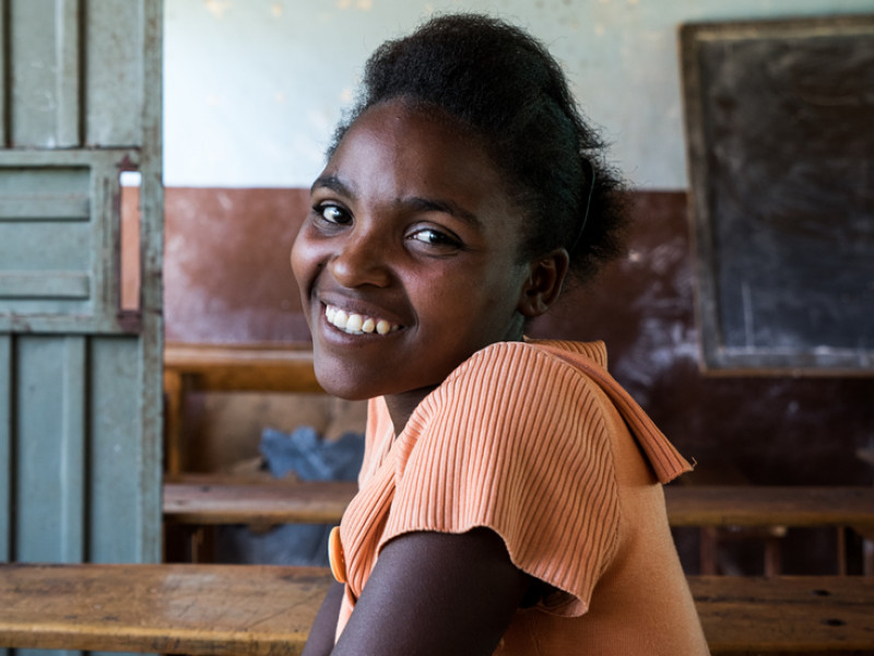 Birtukan, 15, is a member of the Uncut Girls' Club at her school.