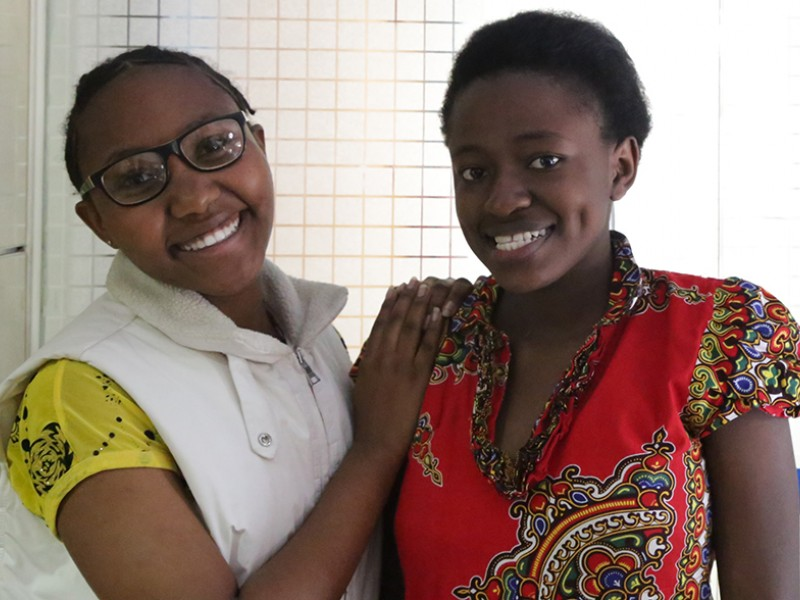 Youth advocates Hope and Georgina from Kenya