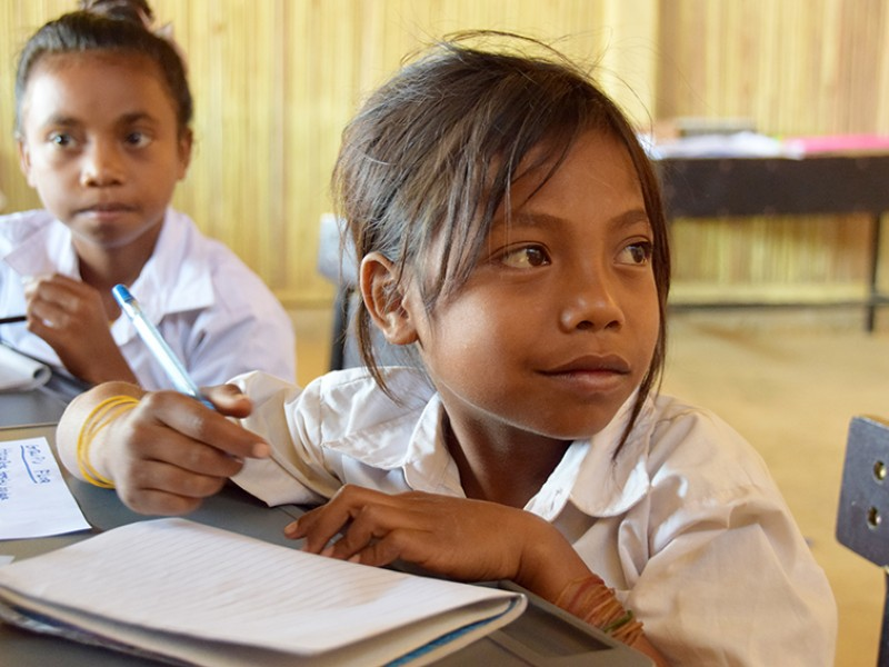 Deometrio, 10, at school in Timor-Leste