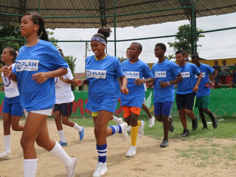 Plan International and Chelsea are supporting young people in Colombia through the power of football